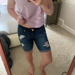 Mid thigh jean shorts